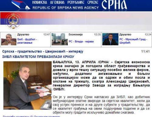Интервју:  Александар Цвијановић, генерални директор Завода за изградњу Бања Лука